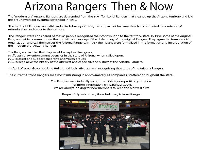 Arizona Rangers Web Ad